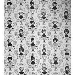 Tapetti Studio Lisa Bengtsson Tillsammans mustavalkoinen 0,53x10,05 m non-woven