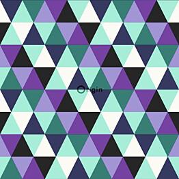 Tapetti Urban Funky 347204 0,53x10,05 m turkoosi/violetti