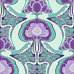 Tapetti Urban Funky 347210 0,53x10,05 m turkoosi/violetti