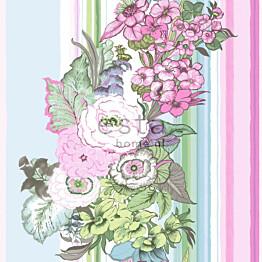 Tapetti Vintage Flowers 138113 0,53x10,05 m pinkki/sinivihreä non-woven