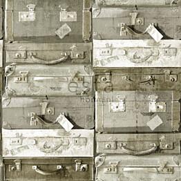 Tapetti Vintage Suitcases 138213 0,53x10,05 m vaaleanruskea