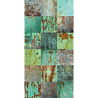 Tapetti WallpaperXXL Patchwork Weathered Emerald Green 158203 46,5 cm x 8,37 m