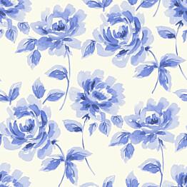 Tapetti Watercolor Painting Roses 128014 0,53x10,05 m sininen non-woven