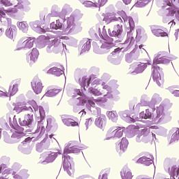 Tapetti Watercolor Painting Roses 128015 0,53x10,05 m purppura non-woven