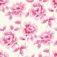 Tapetti Watercolor Painting Roses 128016 0,53x10,05 m pinkki non-woven