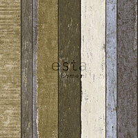 Tapetti Wooden Boards 138253 0,53x10,05 m ruskea/khaki
