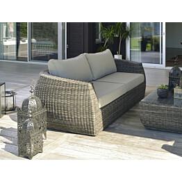 Lougne-sohva Hillerstorp Tara, 3-istuttava, harmaa