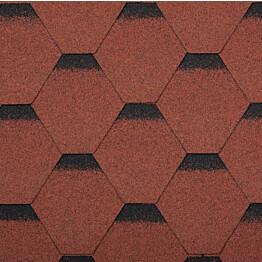 Palahuopa Technonicol Quadrille Tourmaline 3 m²/pkt punainen