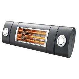 Terassilämmitin Solamagic 2000 Premium LEDPRO DUO BTC Bluetooth tehonsäädöllä antrasiitti