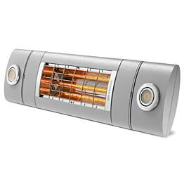 Terassilämmitin Solamagic 2000 Premium LEDPRO DUO BTC Bluetooth tehonsäädöllä titaani