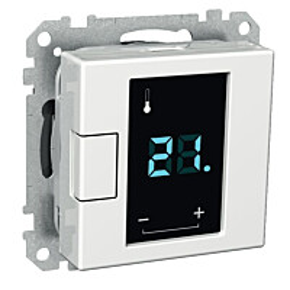 Termostaatti Exxact 16A valkoinen 2622111