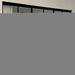 Tilanjakaja/liukuovi Mirror Line Ruudukko musta kolmella ovella korkea malli mittatilaus