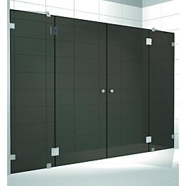 Kylpyhuoneen tilanjakaja Musta Elegance 08 mittatilaus