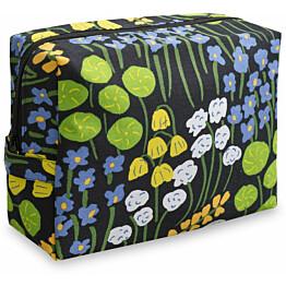Toilettilaukku Finlayson Armas 18x11 cm musta/keltainen/vihreä