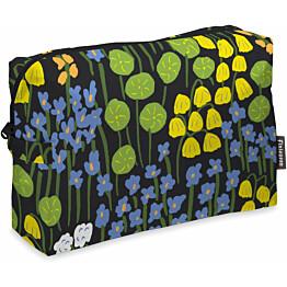 Toilettilaukku Finlayson Armas 28x20 cm musta/keltainen/vihreä