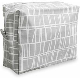 Toilettilaukku Finlayson Coronna 20x9 cm harmaa/valkoinen