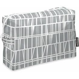 Toilettilaukku Finlayson Coronna 28x20 cm harmaa/valkoinen