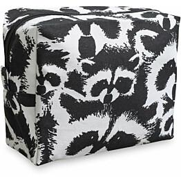 Toilettilaukku Finlayson Pesue 20x9 cm musta/valkoinen