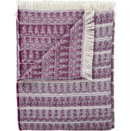Torkkupeitto Vallila Taiga 140x190cm violetti/harmaa/valkoinen