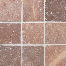 Travertiinilaatta Qualitystone Square Coco Brown 100 x 100 mm
