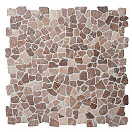 Travertiinimosaiikki Qualitystone Mosaic Coco Brown Interlock verkolla vapaa mitta