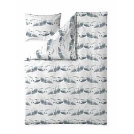 Trikoopussilakanasetti Finlayson Dyynimuumi 150x210 + 50x60 cm cm valkoinen/siniharmaa