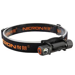 Ladattava otsavalaisin Nicron Mini H10R, 450lm, IP65, musta