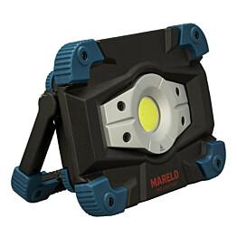 Akkutyövalaisin Mareld Flash 1800RE, IP65, USB, musta/petrooli