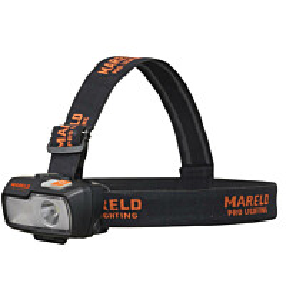Otsalamppu Mareld Peta 400RE, hybridi, IP66, musta/oranssi