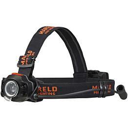 Otsalamppu Mareld Piko 550RE, ladattava, hybridi, IP64, musta/oranssi