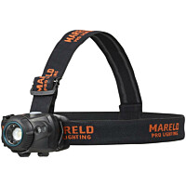 Otsalamppu Mareld Halo 540RE, ladattava, tunnistimella, IP64, musta/oranssi