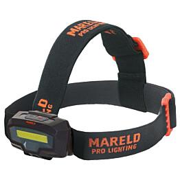 Otsalamppu Mareld Gleam 450, IP64, musta/oranssi