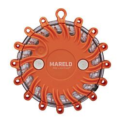 Varoitusvalo Mareld Glow, IP67, vilkulla, akkukäyttöinen, oranssi