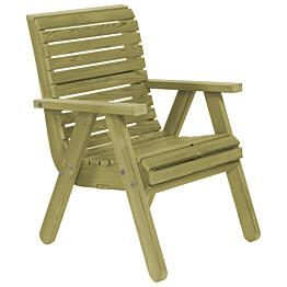 Elli-tuoli N116 vihreää kestopuuta