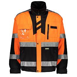 Työtakki Dimex 60191 hi-vis oranssi/musta