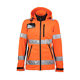 Työtakki Dimex 6062 naisten malli softshell hi-vis oranssi
