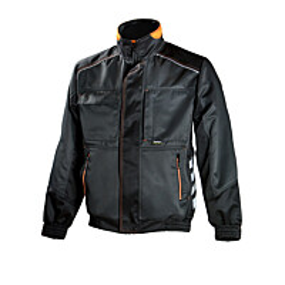 Työtakki Dimex 668 tummanharmaa/musta