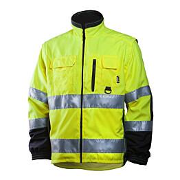 Työtakki Dimex 684 hi-vis keltainen/musta