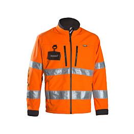 Työtakki Dimex 688R softshell hi-vis oranssi/musta