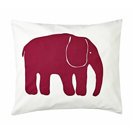 Tyynyliina Finlayson Elefantti 50x60 cm viininpunainen luomupuuvilla