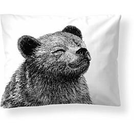 Tyynyliina Finlayson Karhu 50x60 cm musta/valkoinen