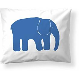 Tyynyliina Finlayson Yksi elefantti 50x60 cm sininen