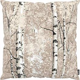 Tyynynpäällinen Vallila Koivumetsä 43x43cm harmaa