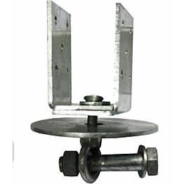 U-pilarikiinnike Lektar säädettävä 45-90 x 95/70 x 4 mm