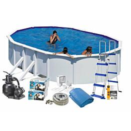 Uima-allaspaketti Swim & Fun Basic 132 v2 730 x 375 cm valkoinen