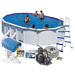 Uima-allaspaketti Swim & Fun Basic 120, 500 x 300 cm valkoinen
