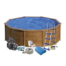 Uima-allaspaketti Swim & Fun Basic 120, pyöreä Ø460 cm ruskea