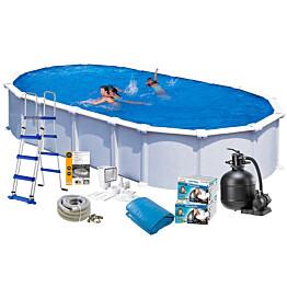 Uima-allaspaketti Swim & Fun Basic 132, 915 x 470 cm valkoinen