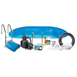 Uima-allaspaketti Swim & Fun Basic InGround 150, 500 x 300 cm upotettava