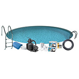 Uima-allaspaketti Swim & Fun Basic InGround 150, pyöreä Ø420 cm upotettava